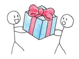 Dropbox for bedrifter - En gave til deg. Illustrasjon.