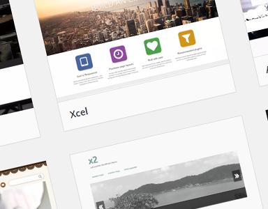 Wordpress themeside. Illustrasjon.